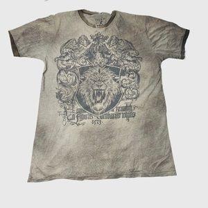 Affliction Men's Distressed Lion Graphic T Shirt